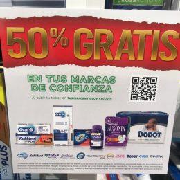 50% gratis